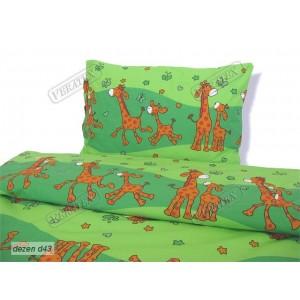 Dětské povlečení ŽIRAFY - zelené (KREP)