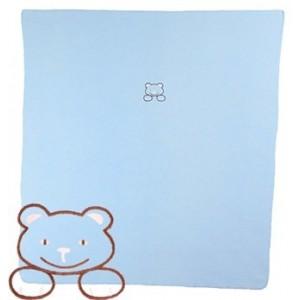 Modrá fleece deka se svítícím medvídkem