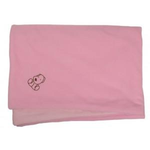 Zateplená dětská deka růžová
