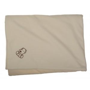 Zateplená dětská deka smetanová