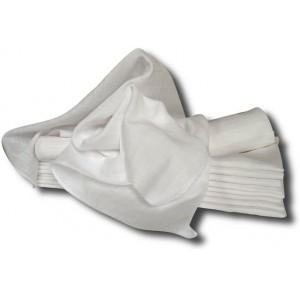 Bílé bavlněné pleny 70x70 - 10 ks