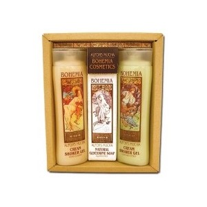 Dárkové balení Alfons Mucha - 2x gel + mýdlo