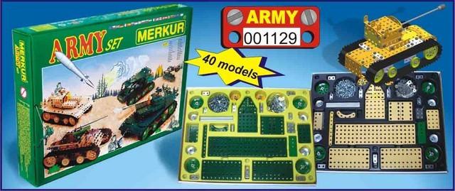 Speciální stavebnice Merkur ARMY set