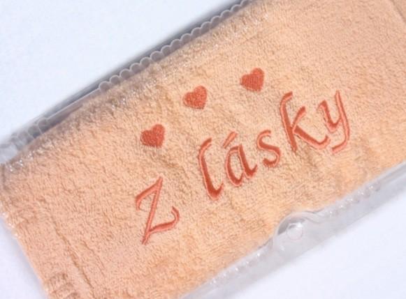 Z lásky - ručník s výšivkou