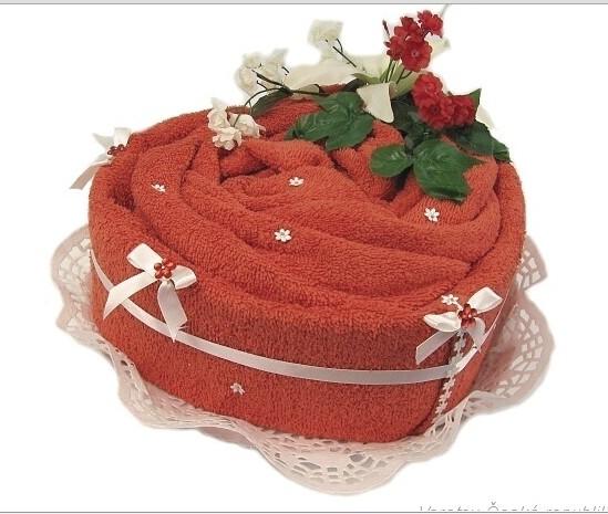 Textilní dort srdce