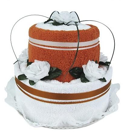 Textilní dvoupatrový dort