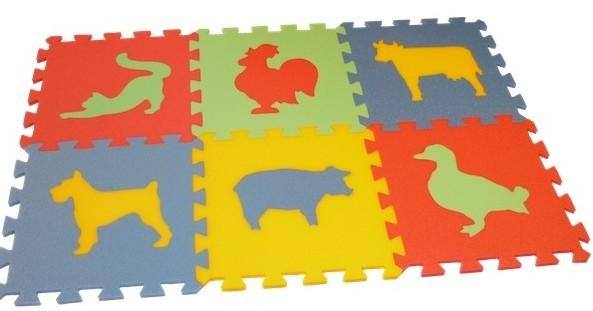 Pěnový koberec MAXI 6 zvířata (3) - domácí