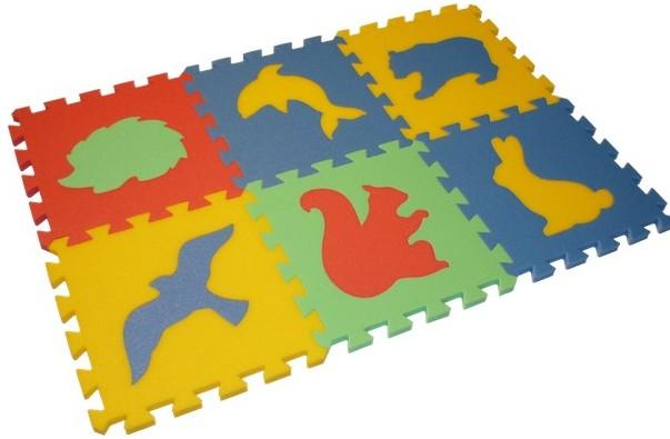 Pěnový koberec MAXI 6 zvířata (4)