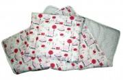 Set přikrývka + polštář dětská postýlka - růžový koník