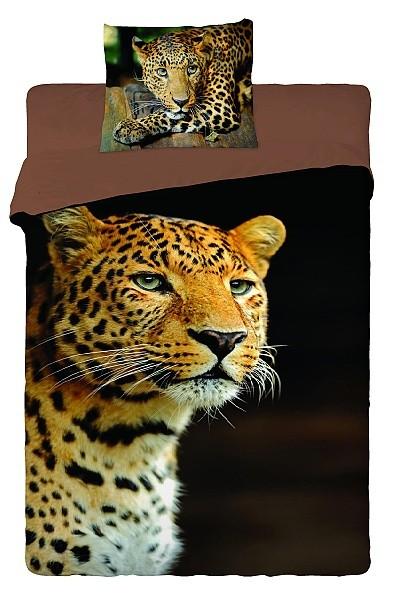 Povlečení fototisk bavlna Leopard