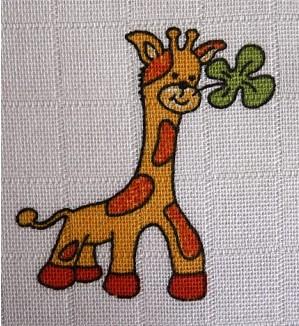Tetra osuška 90x100 cm - žirafka (2 ks bal.)